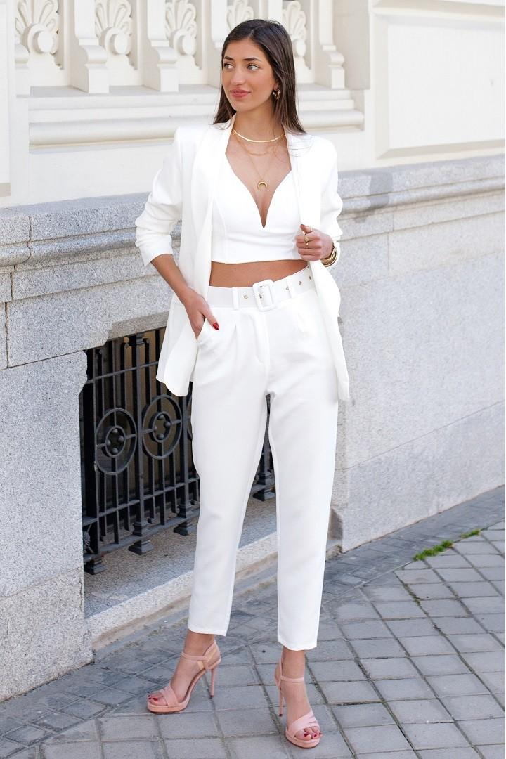 Pantalon Oxford Blanco
